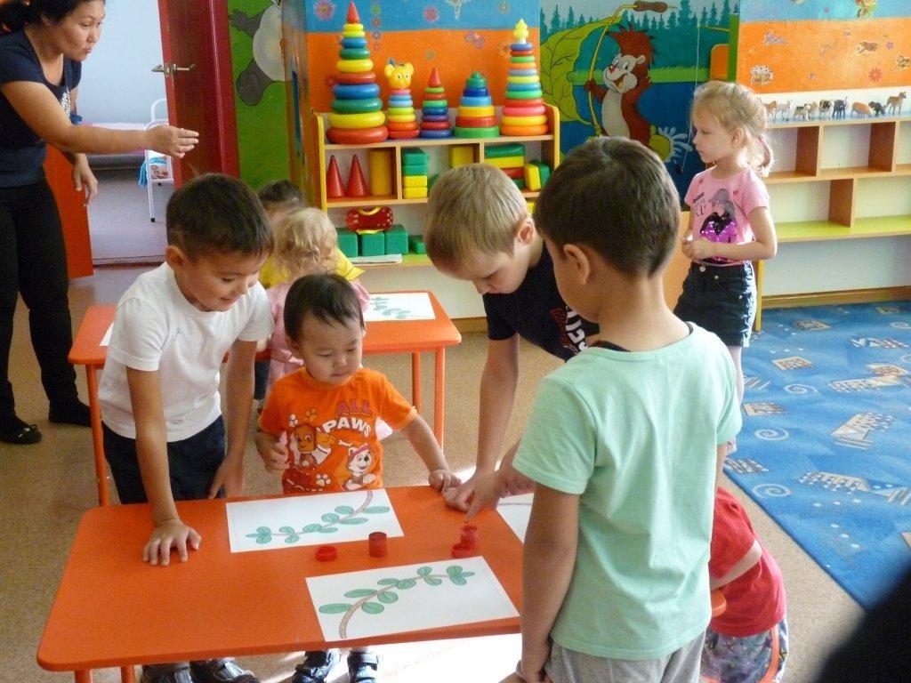 Обучение в парах подготовительной и младшей групп