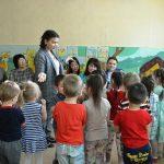 Конкурсное испытание «Педагогическое мероприятие с детьми» проводит Эмидак В.Г